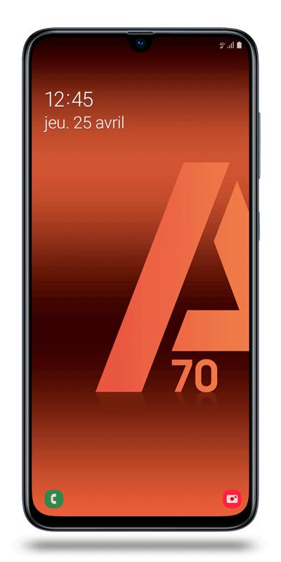 "Smartphone 6.7"" Samsung Galaxy A70 - Full HD+, SnapDragon 675, 6 Go de RAM, 128 Go (via ODR 30€)"