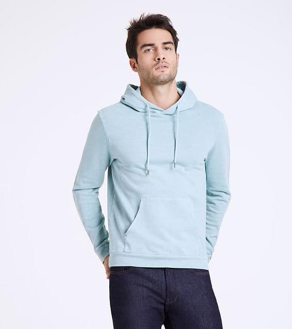 Sweat turquoise molleton à capuche pour Homme - Tailles S à 2XL