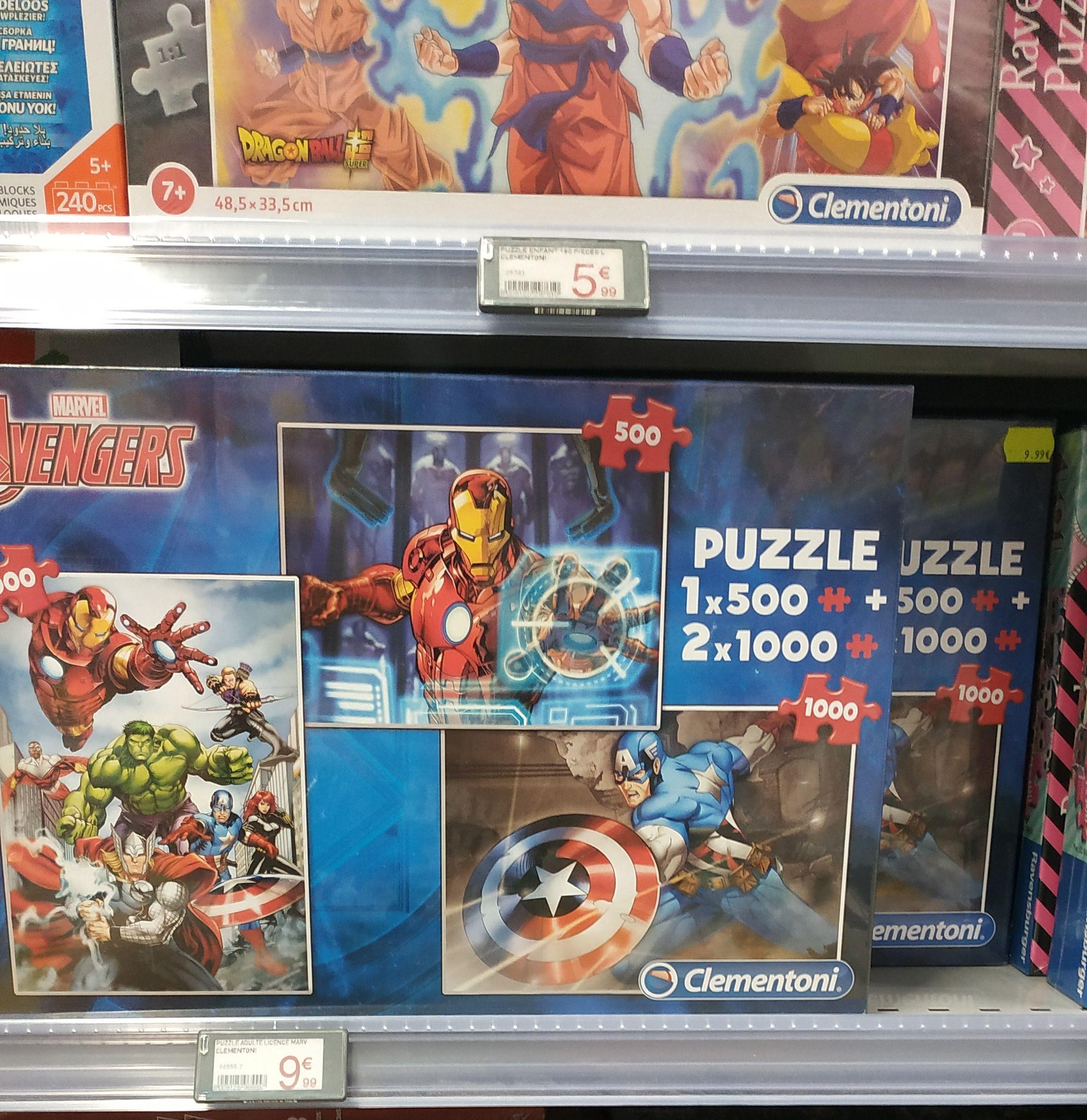 Coffret Puzzle Licence Marvel Avengers (2X1000 pièces, 1x500 pièces) - Niort (79)