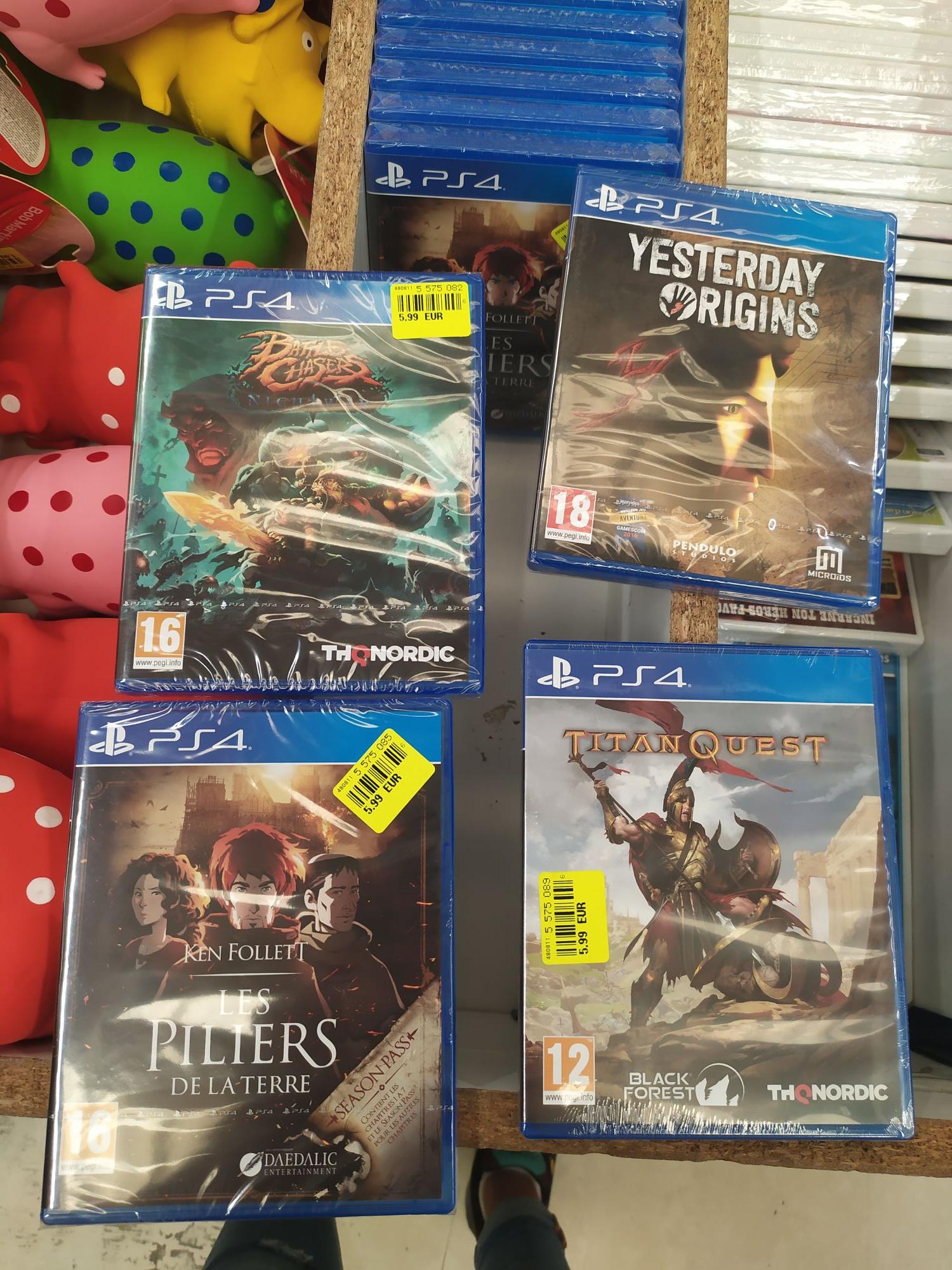 Sélection de jeux PS4 à 5.99€ - Landerneau (29)