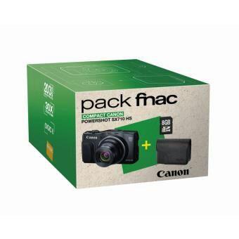 Pack Appareil photo compact Canon PowerShot SX710 HS Noir + Etui + Carte mémoire SDHC 8 Go