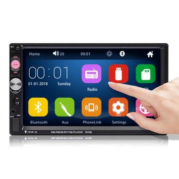 "Autoradio 7"" iMars 7023B - Double DIN, FM, USB, AUX, Nluetooth, Compatible Caméra de recul"