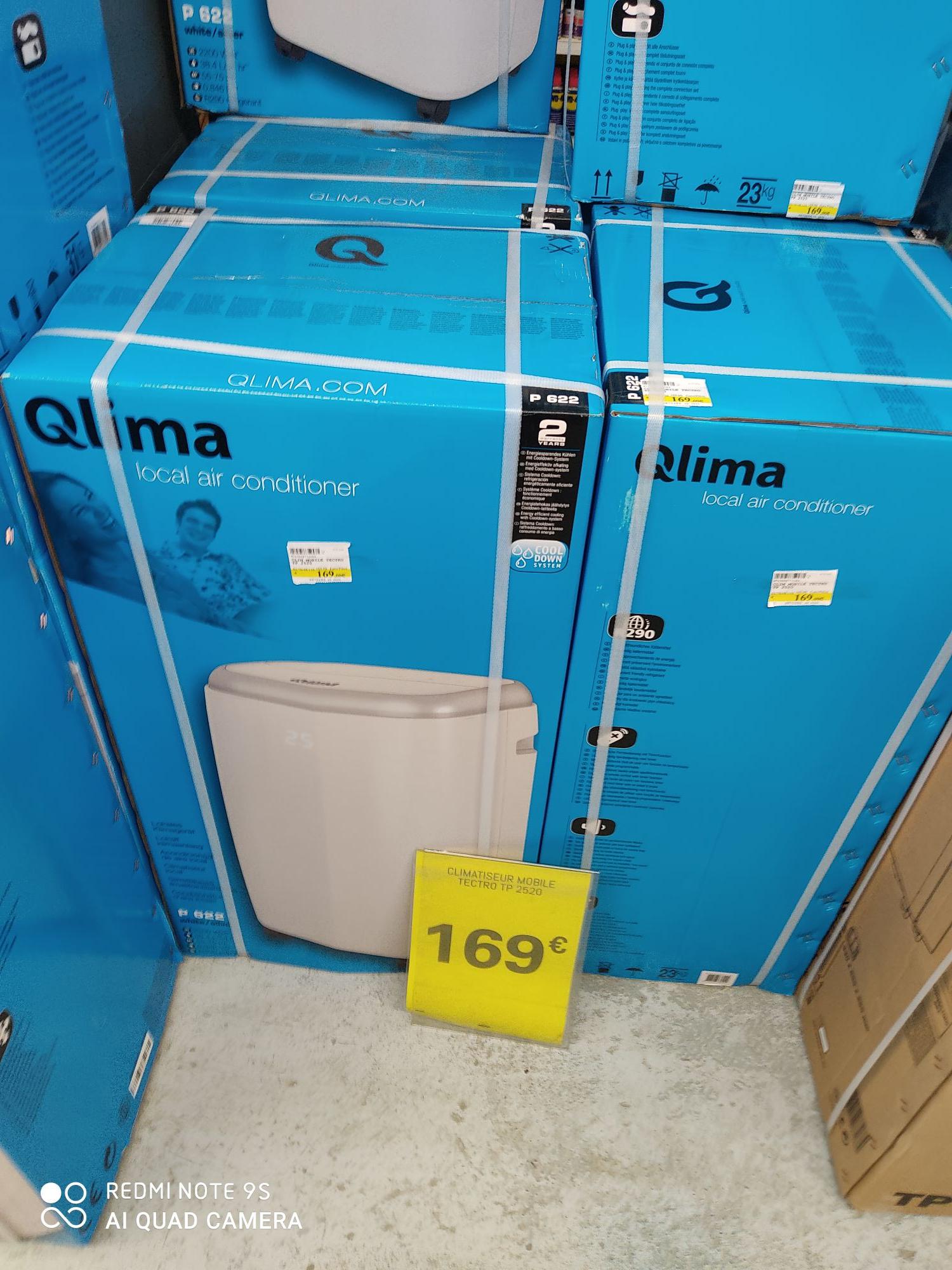 Climatiseur mobile Qlima P622 - 8000 BTU/h - Villeurbanne (69)