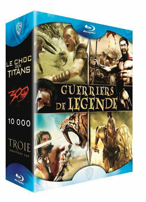 Coffret Blu-ray Guerriers de légende - Le choc des titans + 300 + 10 000 + Troie
