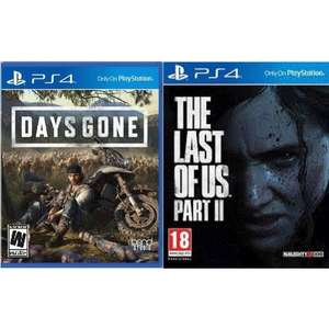 The Last of Us Part II Jeu PS4 + Days Gone sur PS4 (Version Import - Vendeur tiers)