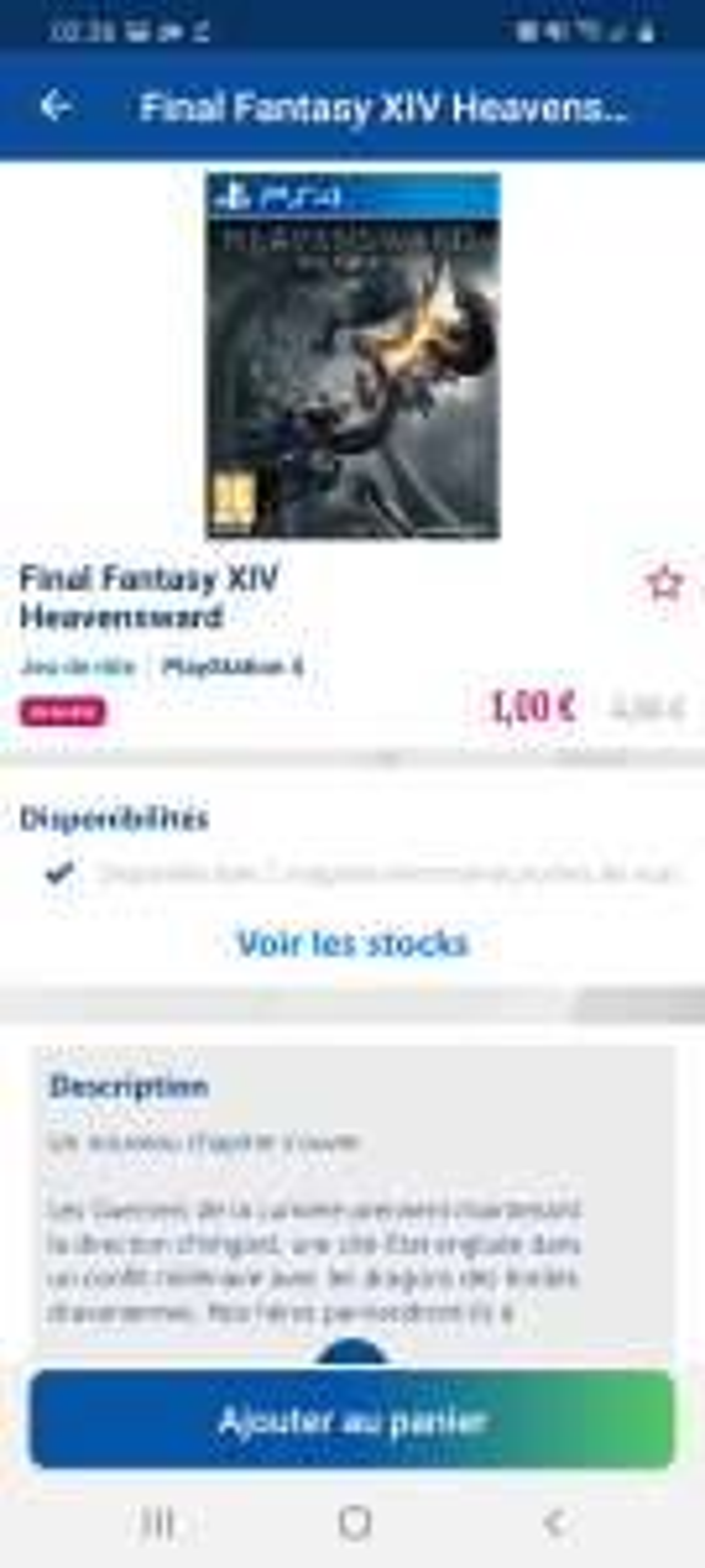 Produits en Promotion (Via Application Mobile dans une sélection de Magasins) - Ex: Extension Final Fantasy XIV: Heavensward sur PS4