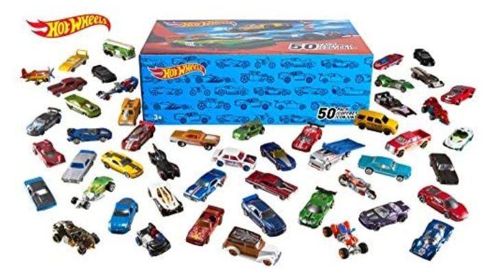 Coffret 50 véhicules miniatures Hot Wheels