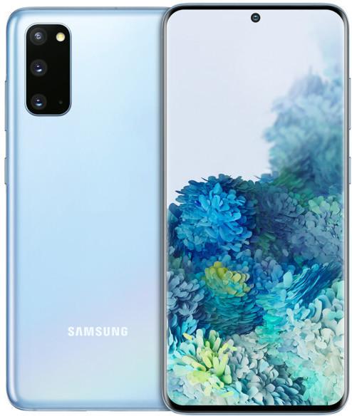 "Smartphone 6.2"" Samsung Galaxy S20 - WQHD+, Exynos 990, 8 Go de RAM, 128 Go, 4G, bleu"