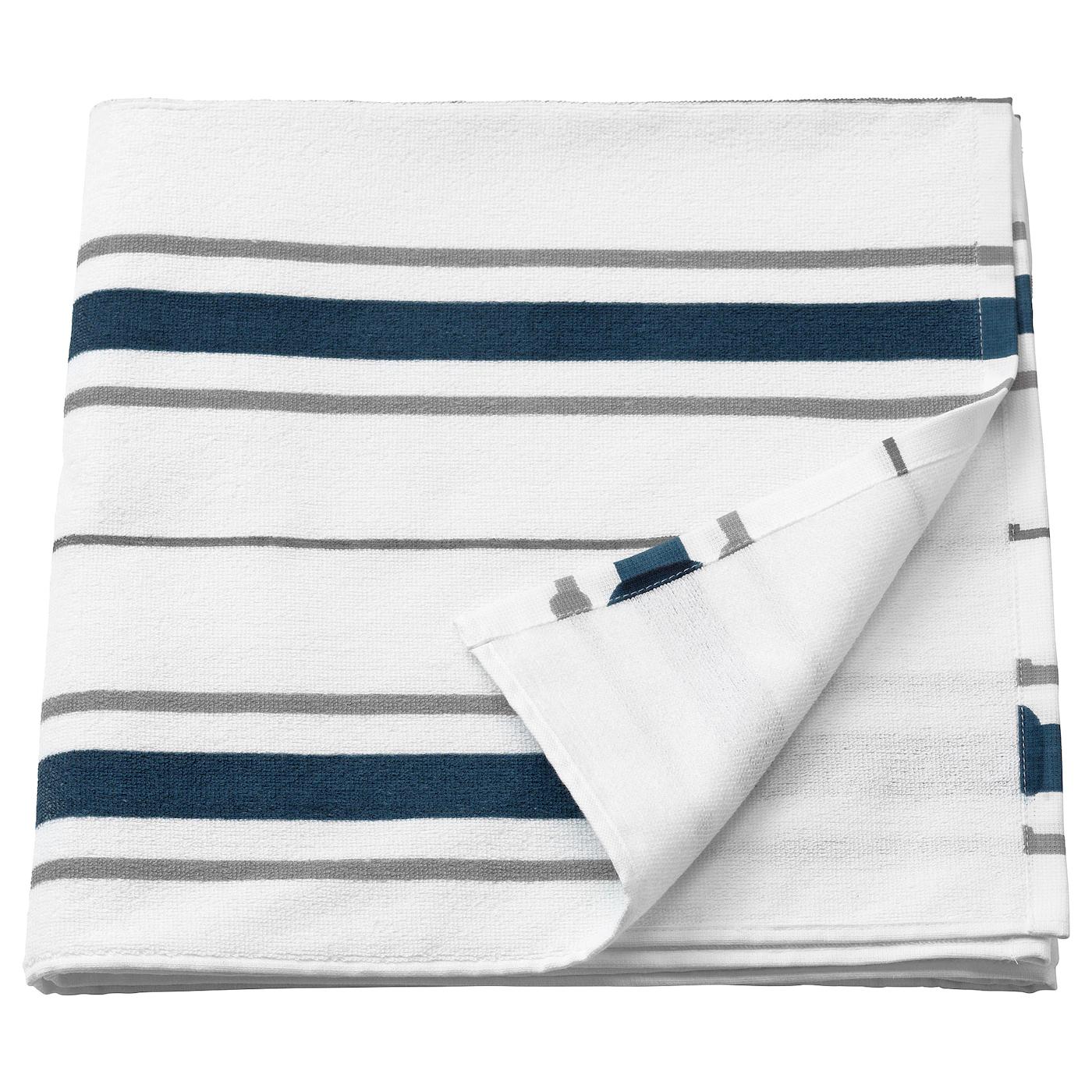 Drap de bain blanc&bleu Ottsjön - 140 x 70cm