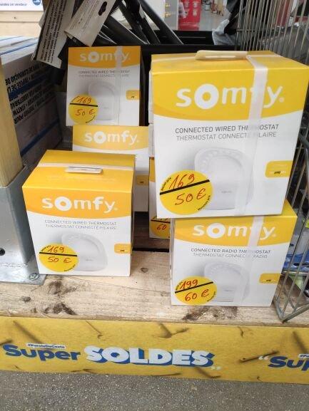 Thermostat connecté radio Somfy - Toulon (83)