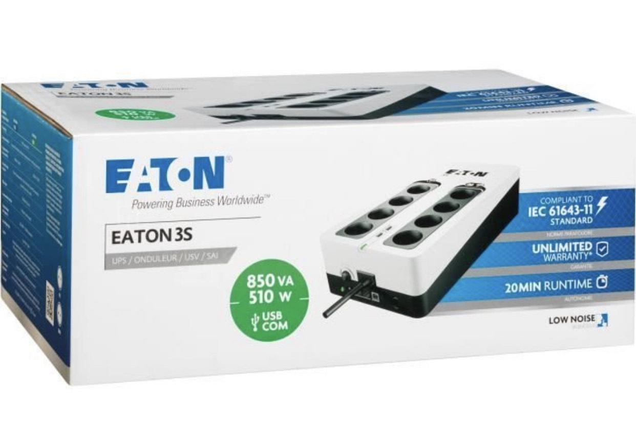 Onduleur Eaton 3S 850VA - 510W, 850VA, 8 prises
