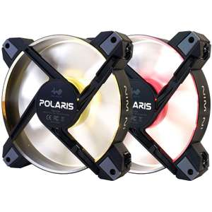 Pack de 2 ventilateurs de boîtier IN WIN Polaris RGB - 120mm, LED RGB, Aluminium