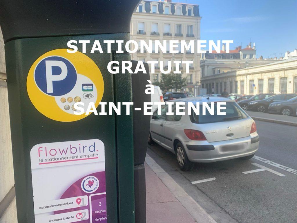 Stationnement gratuit en zone verte au mois d'Août - Saint-Étienne (42)