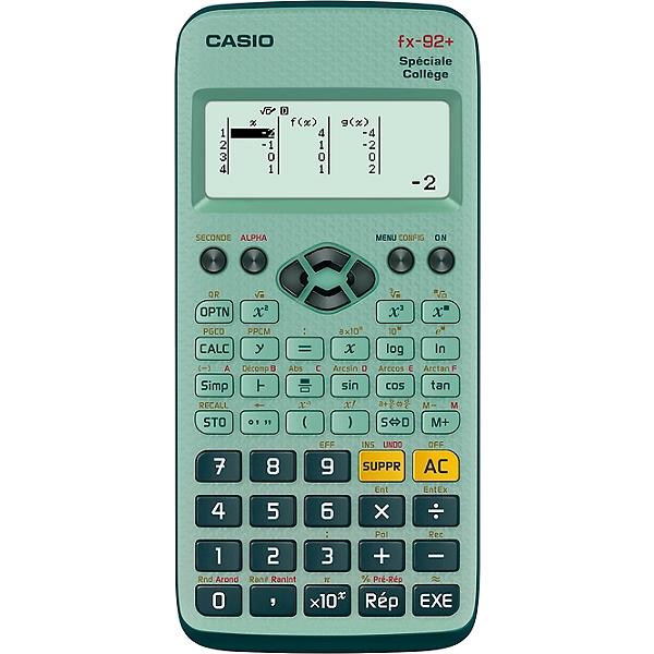 Calculatrice scientifique Casio FX 92+ Collège (via 2€ sur la carte de fidélité + ODR 3€)