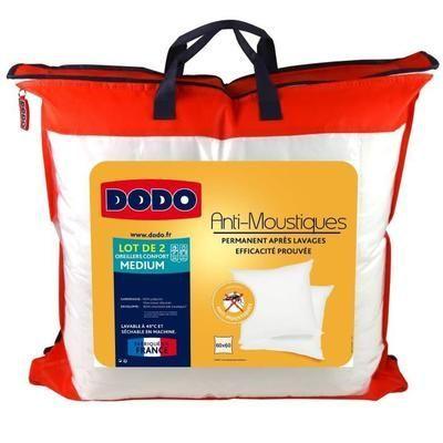 Lot de 2 oreillers Anti-moustiques Dodo - 60 x 60cm