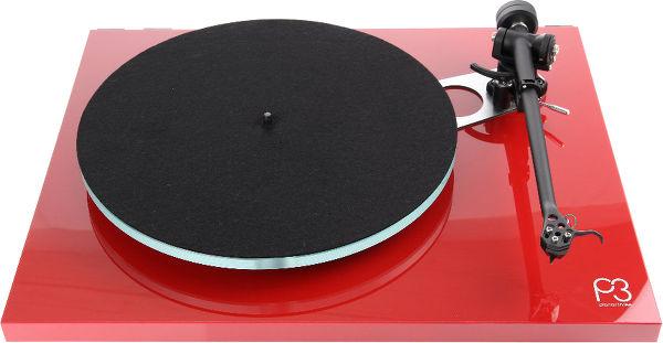 Platine vinyle Hi-Fi Rega Planar 3 - Rouge laqué