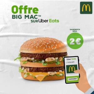 1 Hamburger Big Mac (via Uber Eats) - Châtillon (92)