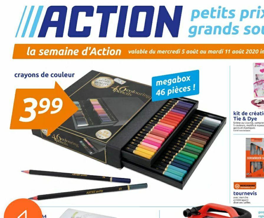 Boite de 46 Crayons de couleur