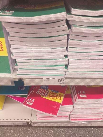 Paquet de Copies doubles (300 pages) - Lyon Félix Faure (69)