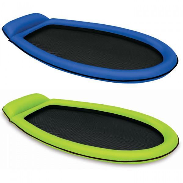 Matelas gonflable semi immergé Intex - Vert ou Bleu