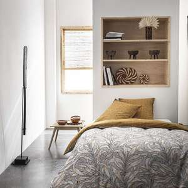 Sélection de parures de lit (housse de couette + taies d'oreiller) en promotion - Ex: Parure 3pcs Coton révers. Botanic - 220x240cm