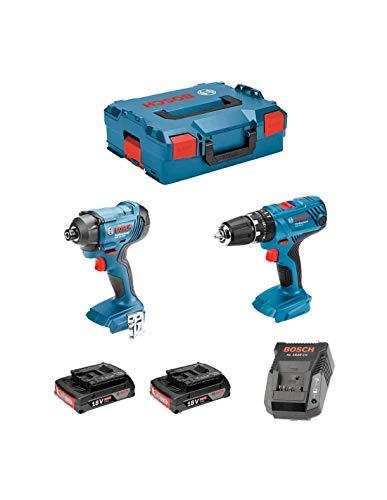 Pack Perceuse à percussion + Visseuse à chocs Bosch Professional 18V GDR 18V-160 - 2 batteries 2,0 Ah + AL1820CV + L-Boxx (Vendeur tiers)