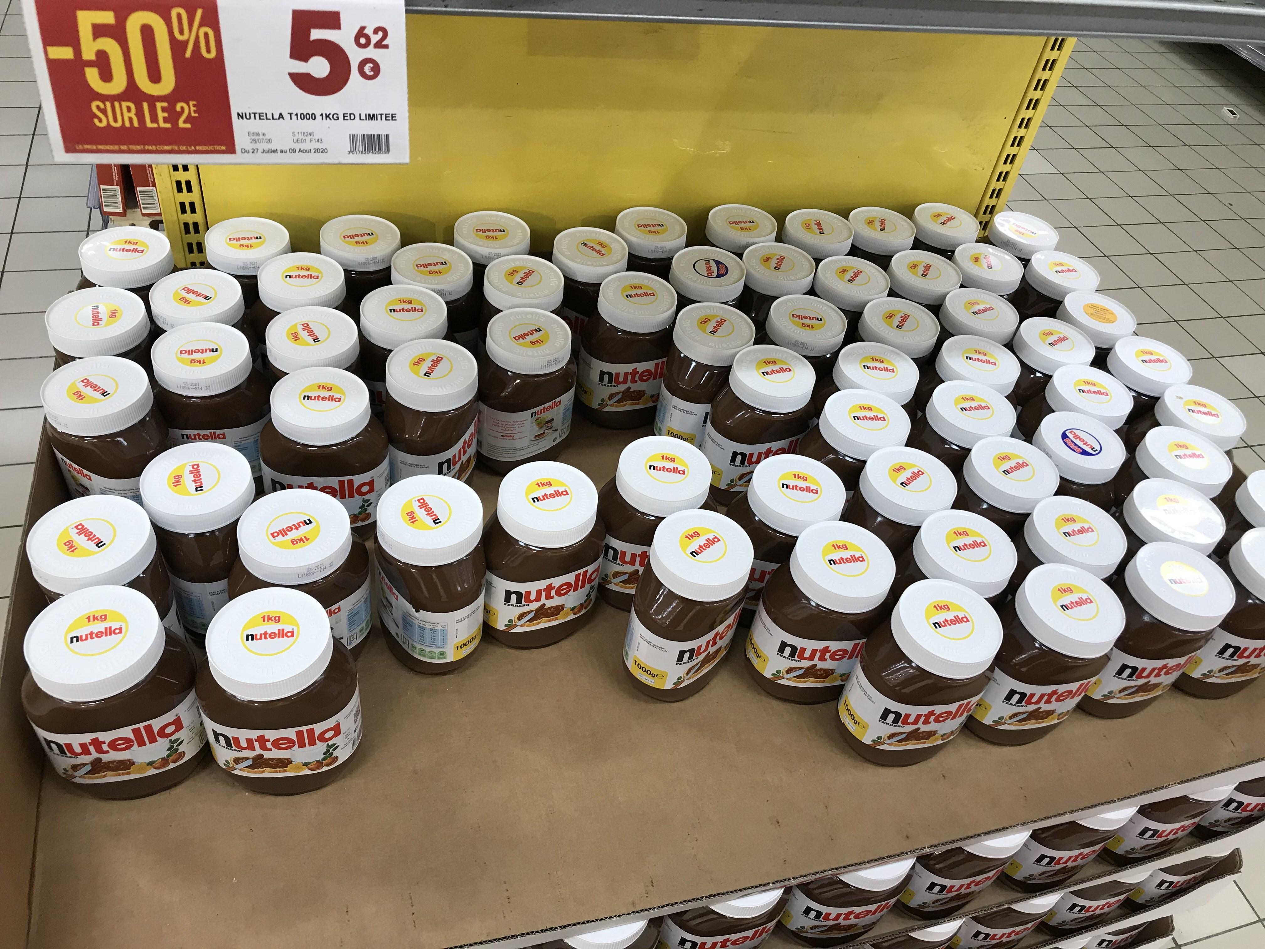 Lot de 2 Pots de Nutella - 2 x 1 Kg - Agen (47)