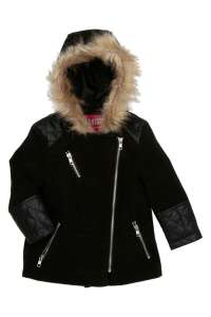 Manteau a Capuche enfant - Noir ou Rouge, Taille : 2 à 5 ans