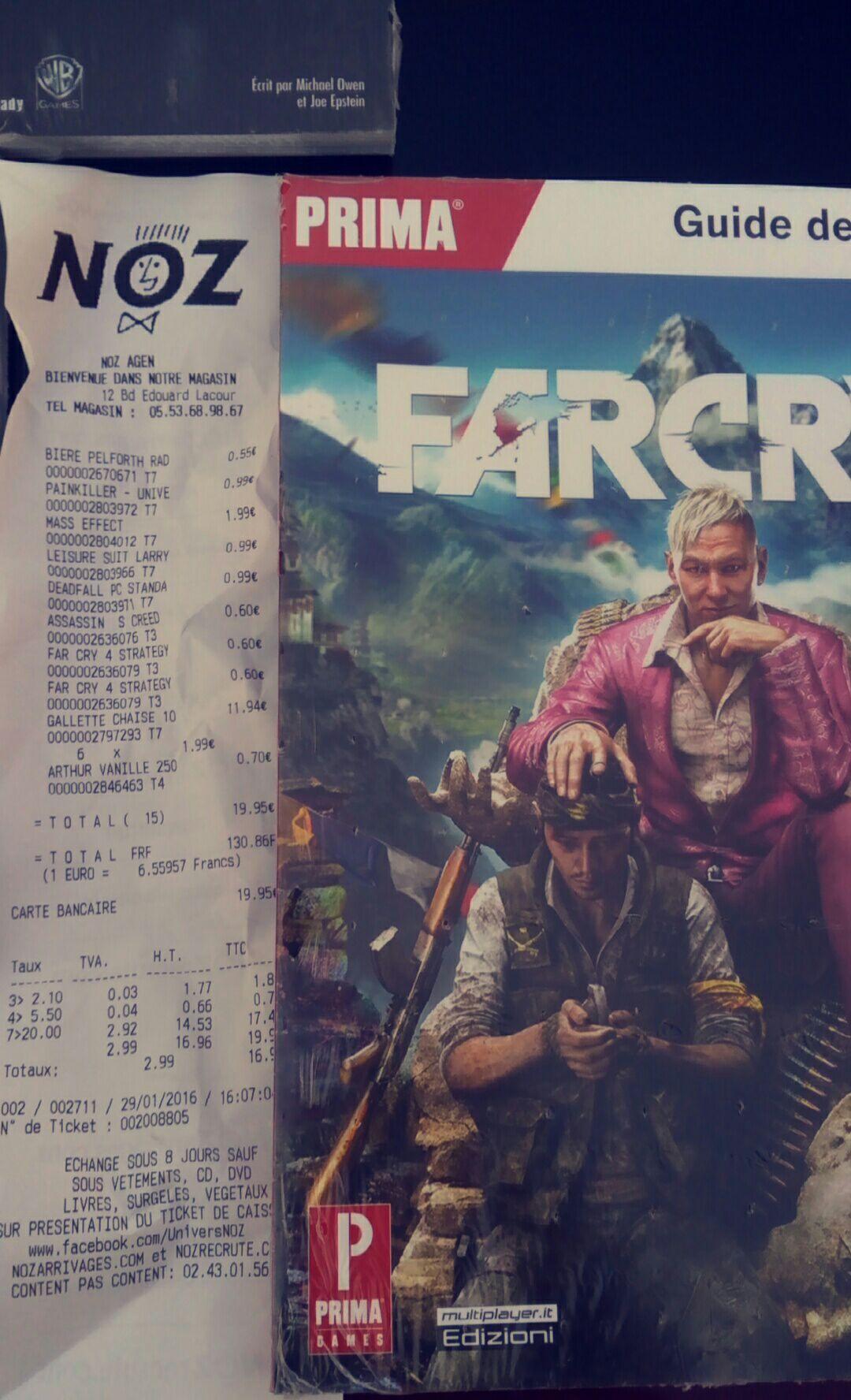 Sélection de Guides de jeux à 0.60€ - Ex : Guide de Jeu Far Cry 4