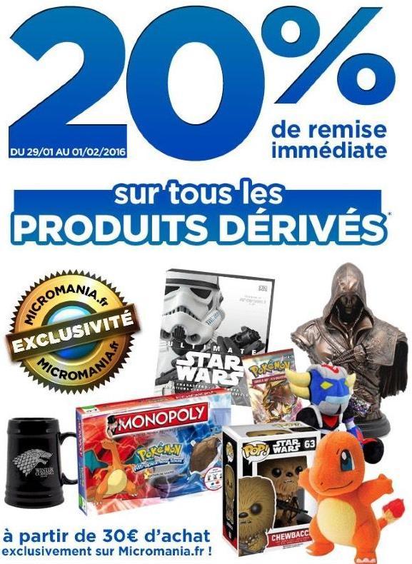 [Clients Premium] 20% de remise sur tous les produits dérivés de jeux-vidéo