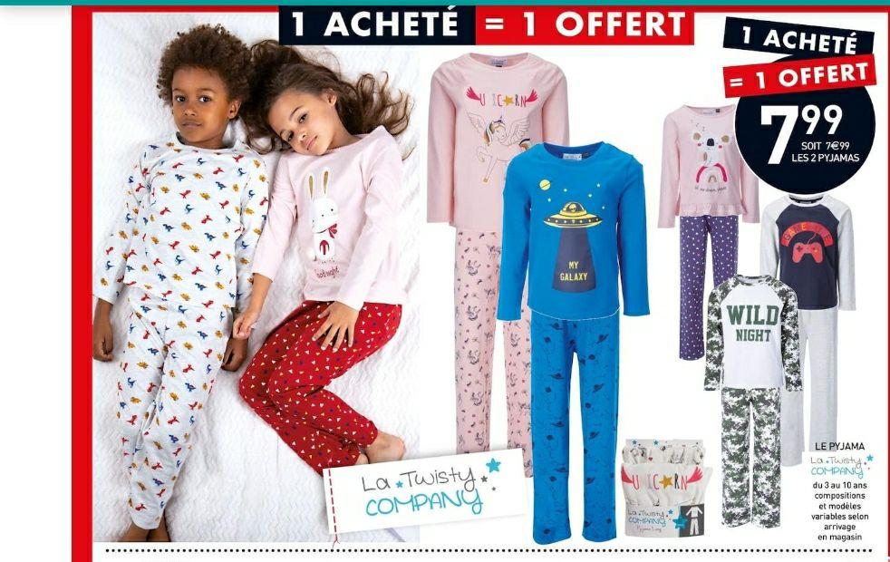 Lot de 2 pyjamas Twisty Company