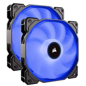 Lot de 2 ventilateurs Corsair Air Series AF140 - 140mm, LED Silencieux, Bleu