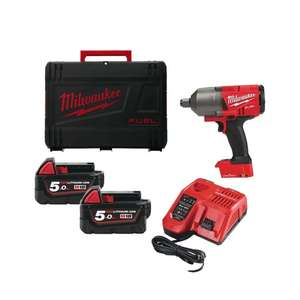 Boulonneuse à chocs Milwaukee M18 ONEFHIWF34-502X + 2 batteries 5,0Ah + Box