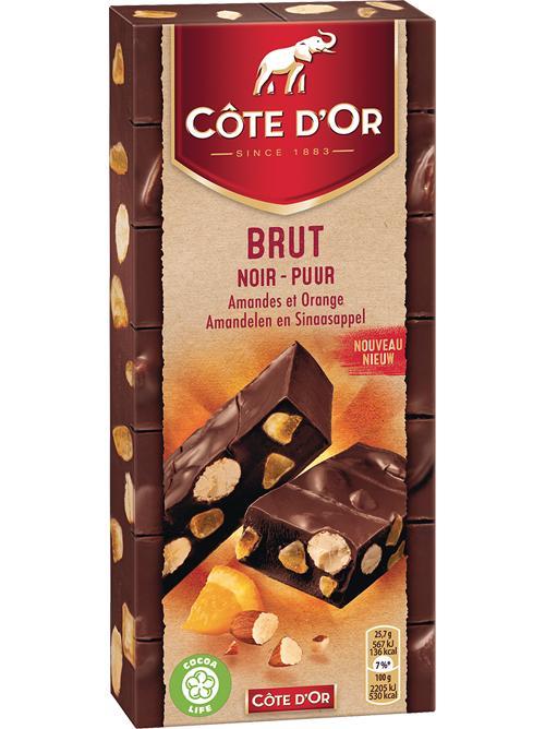 3 tablettes de chocolat Côte d'Or Brut