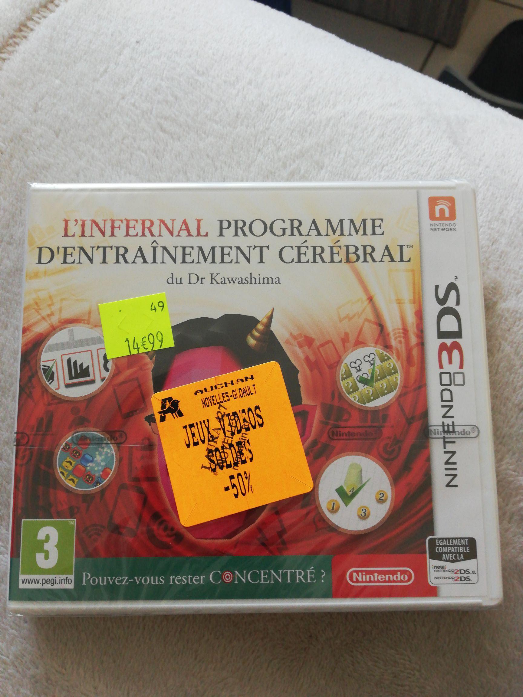 L'infernal programme d'entraînement cérébral du Dr Kawashima sur Nintendo 3DS (Noyelles-Godault 62)
