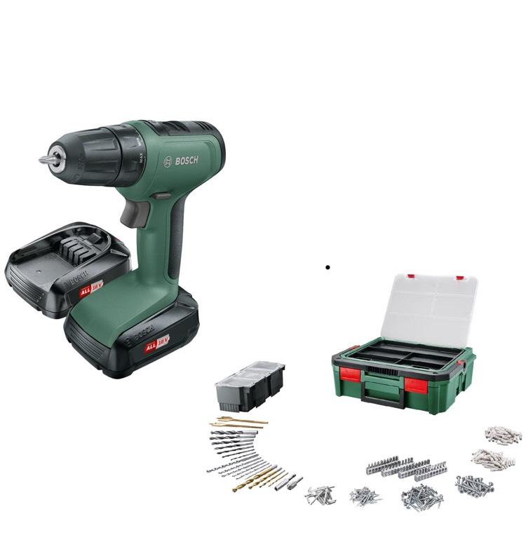 Perceuse visseuse sans fil Bosch UniversalDrill 18V + 241 Accessoires + SystemBox