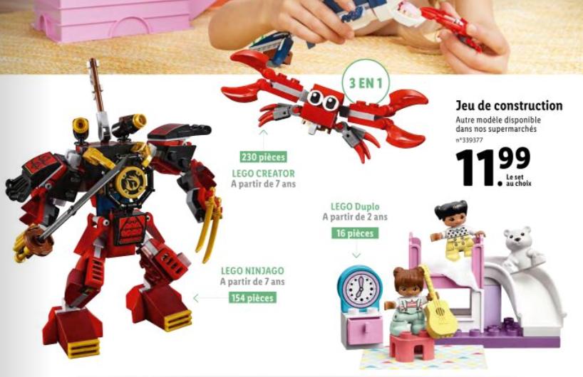 Sélection de Lego en promotion - Ex: Robot Samourai (70665) / Créatures sous-marines (31088)