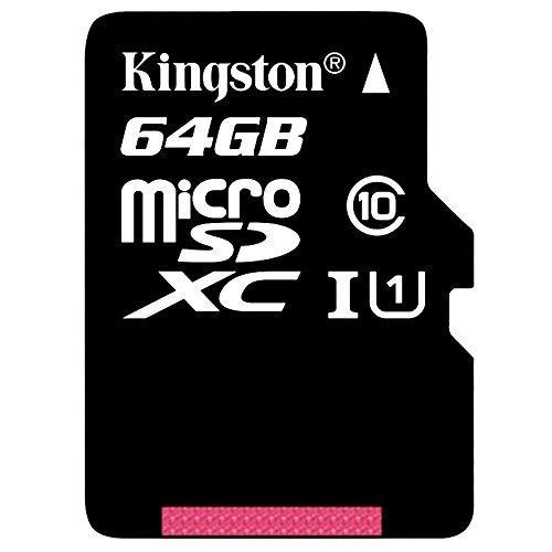 Carte mémoire microSDXC Kingston UHS-I Classe 10 -  64 Go avec adaptateur