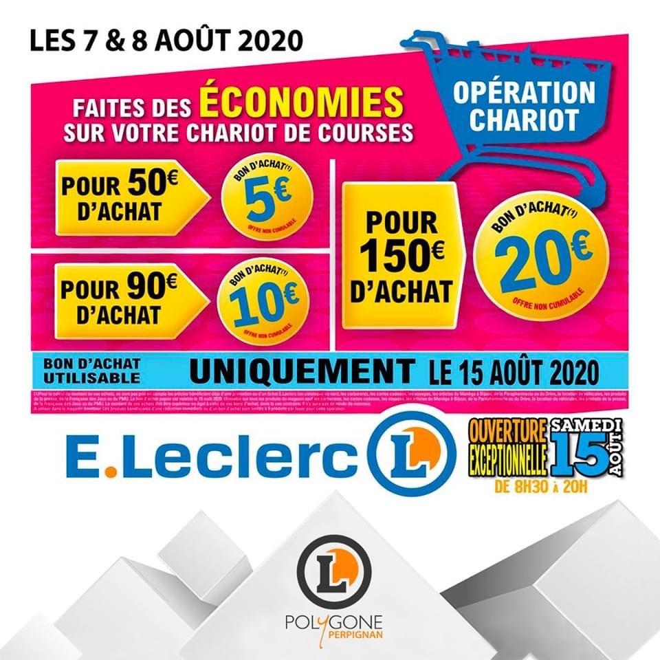 5€ offerts en bon d'achat dès 50€, 10€ dès 90€ et 20€ dès 150€ - Perpignan Polygone (66)