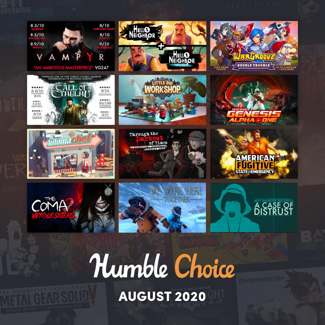 Humble Bundle Choice - Août 2020 : Vampyr + Call of Cthulhu + 10 Jeux sur PC (Dématérialisé - Steam)