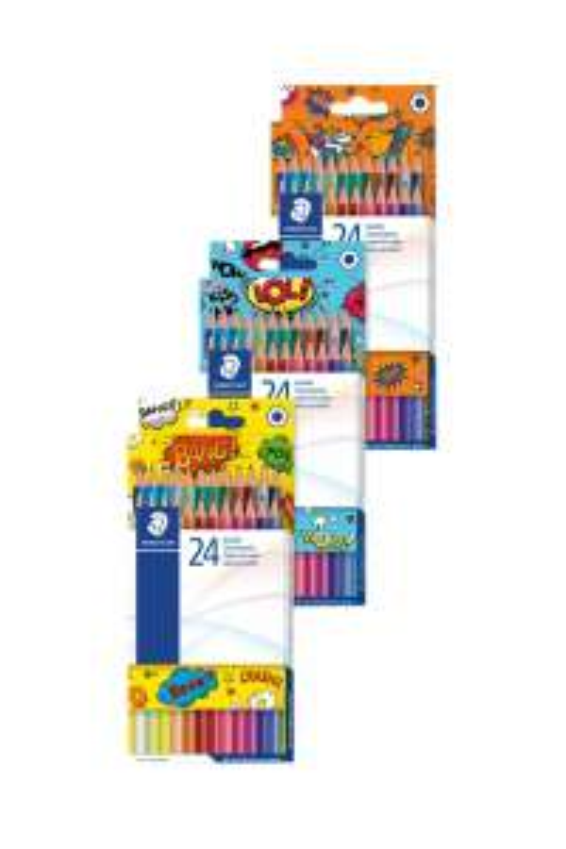 24 crayons de couleur Edition Comic - Coloris aléatoire