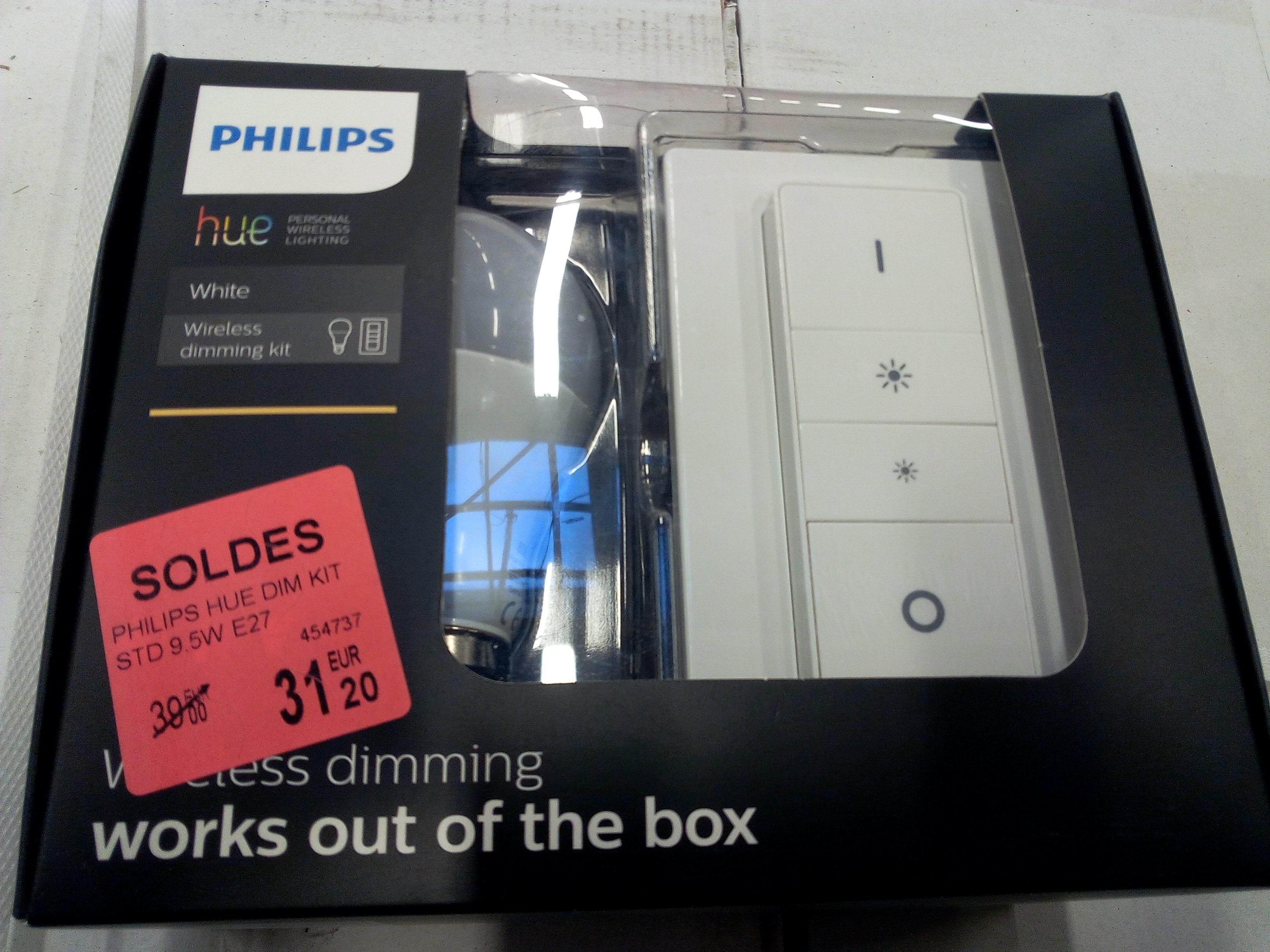 Philips Hue Wireless Dimming Kit  (Ampoule connectée + Interrupteur)
