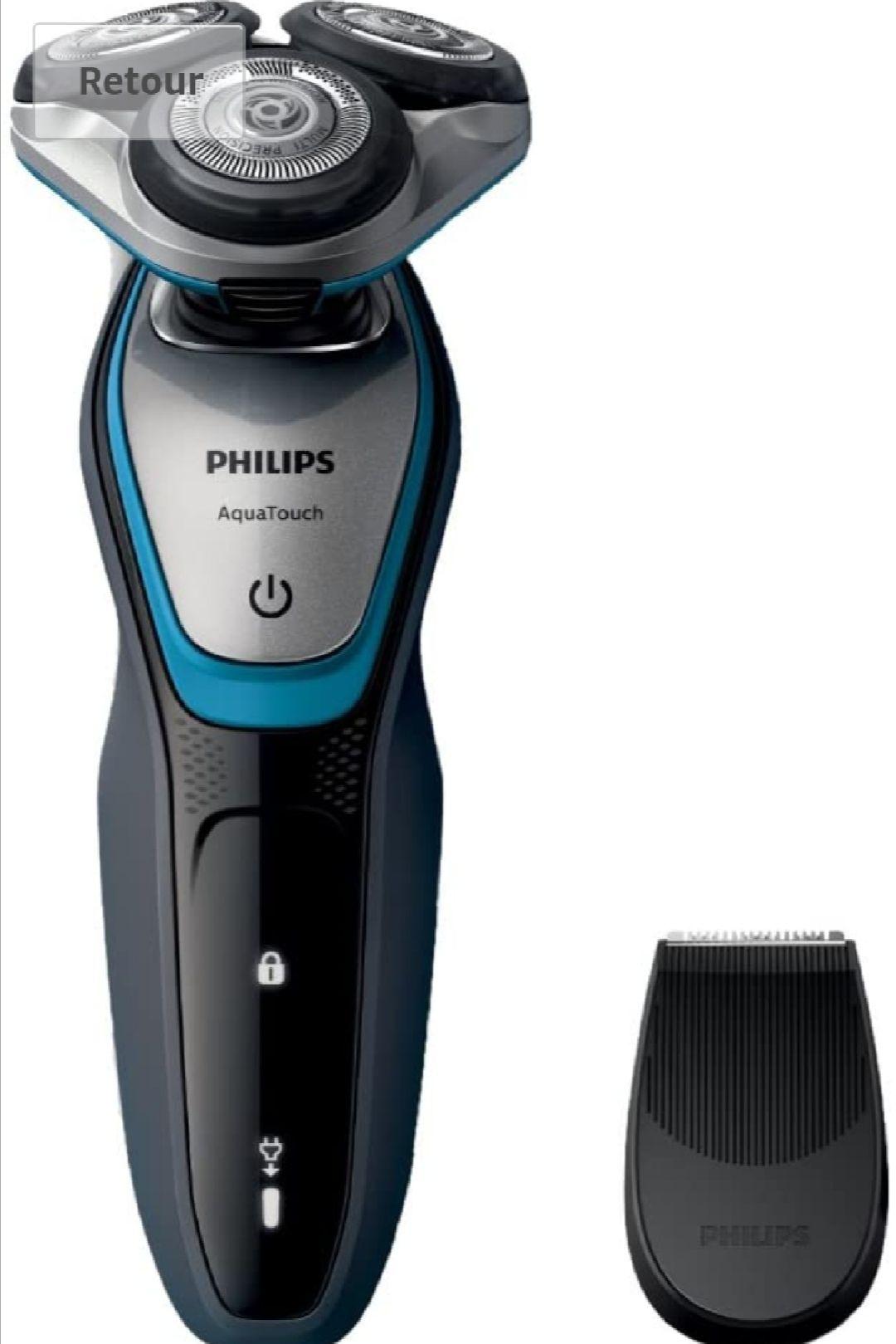 Rasoir électrique Philips S5400/06 étanche avec Tondeuse de Précision