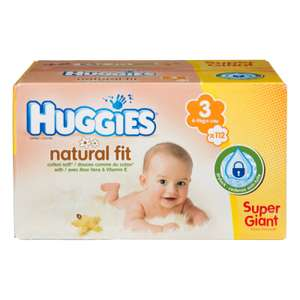 Pack de 112 couches Huggies Natural Fit (Taille 3)