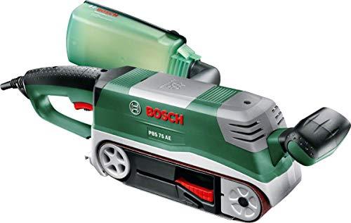 Ponceuse à bande Bosch PBS 75 AE - 750W, Variateur électronique, 1 bande abrasive, Butée parallèle et angulaire (Via Coupon)