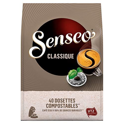 Lot de 10 paquets de 40 dosettes Senseo Classique (400 dosettes)