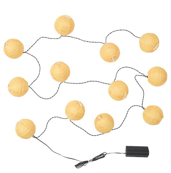 Guirlande lumineuse extérieure Solvinden - 12 ampoules, jaune