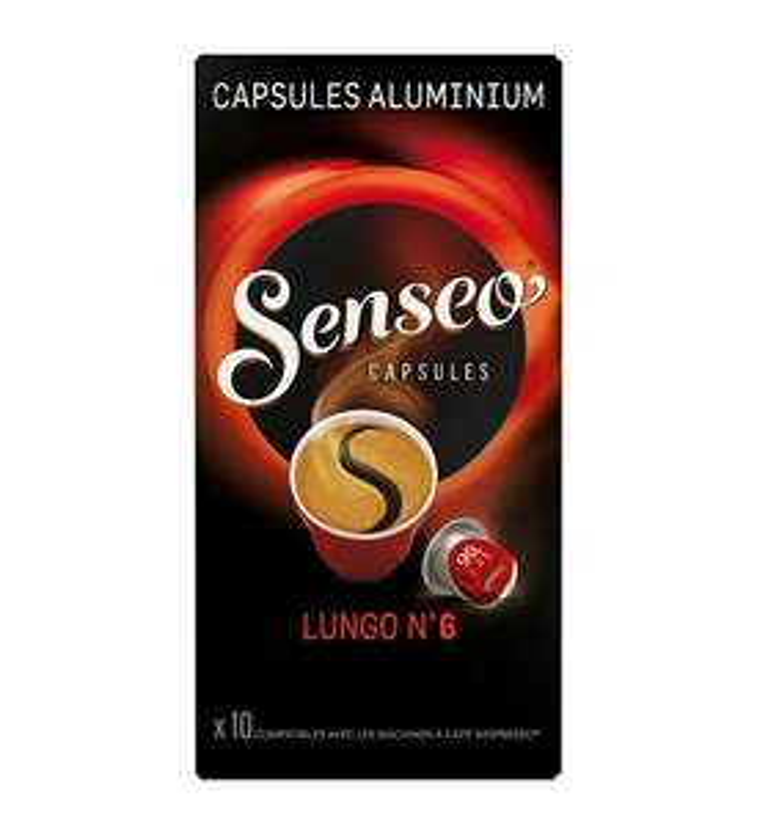 Lot de 20 paquets de 10 capsules compatibles Nespresso Senséo Espresso Lungo n°6 (200 capsules)