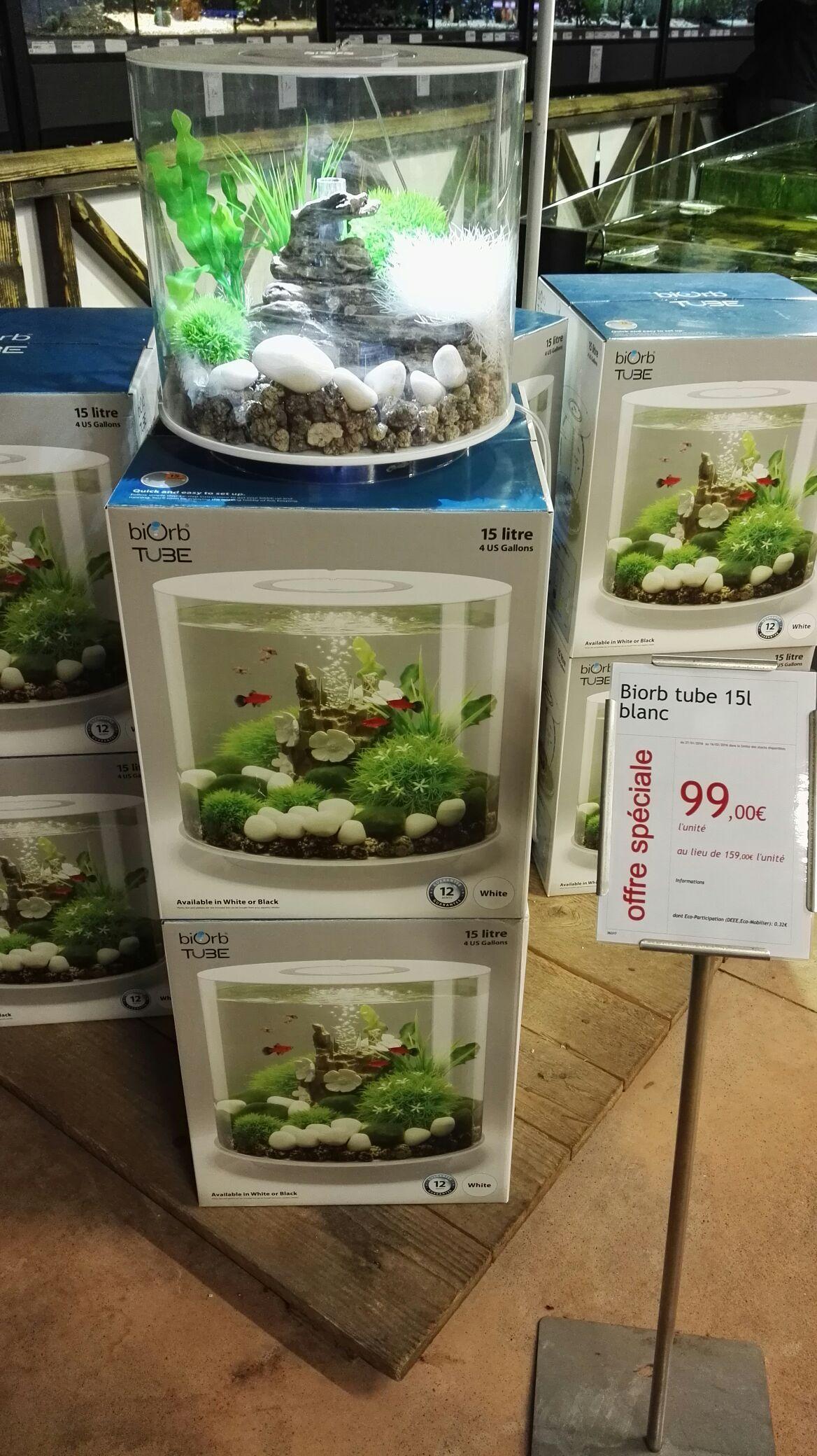 Aquarium Biorb 15L Blanc - Life à 69€, Tube