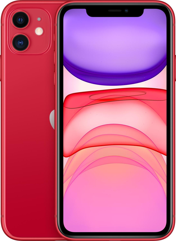 "Smartphone 6.1"" Apple iPhone 11 - HD Retina, A13, 4 Go de RAM, 64 Go, rouge ou violet"
